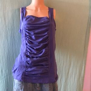 Sleeveless ruched tee size L from Soft Surrounding